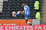 Brighton central midfielder, Rohan Ince (24) takes ball during the The FA Cup match between Hull City and Brighton and Hove Albion at the KC Stadium, Kingston upon Hull, England on 9 January 2016. Photo by Ian Lyall.