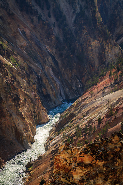 The Grand Canyon of the Yellowstone in Yellowstone National Park may not be as grand as the Grand Canyon, but it doesn't disappoint the viewer with the sight.