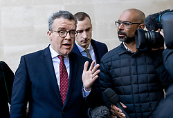 © Licensed to London News Pictures. 24/02/2019. London, UK. Deputy Leader of the Labour Party Tom Watson MP leaves BBC Broadcasting House after appearing on The Andrew Marr Show. Photo credit: Rob Pinney/LNP