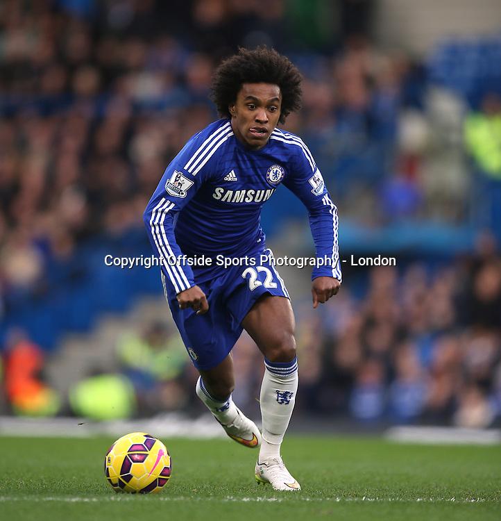 10 January 2015 Premier League Football - Chelsea v Nerwcastle United ;  Willian of Chelsea.<br /> Photo: Mark Leech