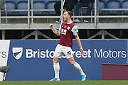 Burnley forward Ashley Barnes (10) celebrates  his goal 1-0 during the Premier League match between Burnley and West Ham United at Turf Moor, Burnley, England on 9 November 2019.