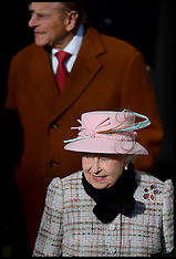 FEB 02 2014 The Queen attends West Newton Church