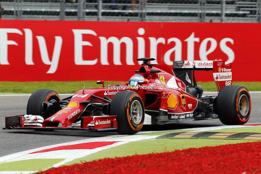 &copy; Photo4 / LaPresse<br /> 05/09/2014 Monza, Italy<br /> Sport <br /> Grand Prix Formula One Italy 2014<br /> In the pic: Fernando Alonso (ESP) Scuderia Ferrari F14-T