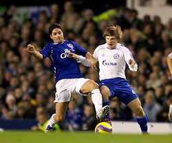 Liverpool, England - Wednesday, December 5, 2007: Everton's Mikel Arteta and Zenit St. Petersburg's Andrey Arshavin during the UEFA Cup Group A match at Goodison Park. (Photo by David Rawcliffe/Propaganda)