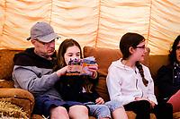 Beverley Racecource, Beverley, East Yorkshire, United Kingdom, 16 June, 2017. Pictured: Moonbeams Tent, Beverley Folk Festival