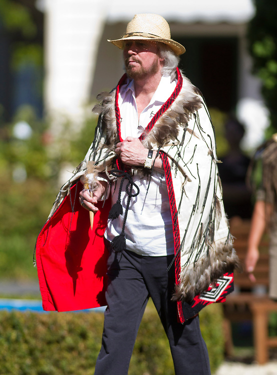 Barry Gibb is welcomed to Hawkes Bay with a Powhiri at Mangapapa Lodge, Hastings, New Zealand, Thursday, 21 February, 2013. Credit: John Cowpland / alphapix