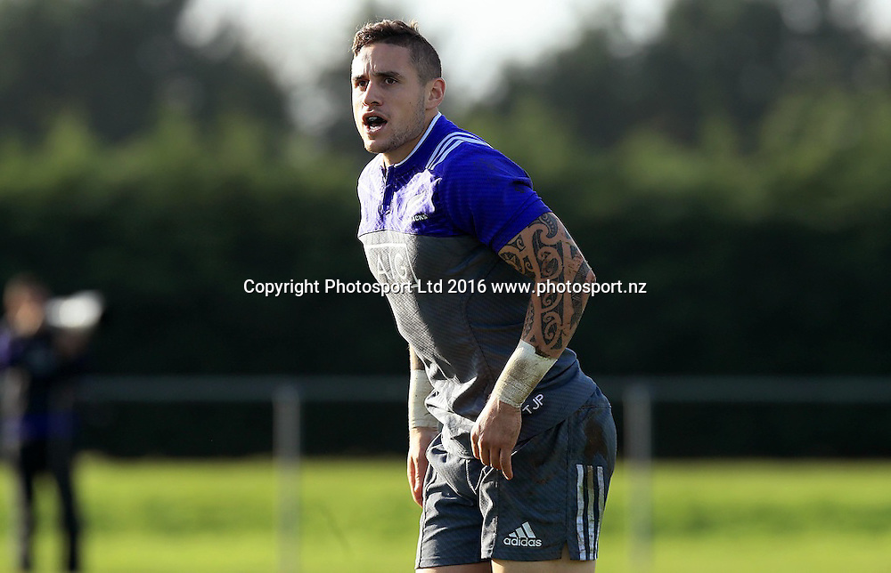 New Zealand All Blacks Squad Training, Westmanstown, Dublin 15/11/2016<br /> TJ Perenara<br /> Photo: &copy;INPHO/Donall Farmer / www.photosport.nz