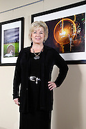 Belinda Kenley of Energy Optimizers, USA inside the Centerville Police Department building where she's been involved in the selection and placement of art installations, Thursday, December 15, 2011.