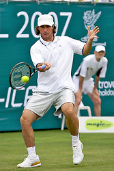 Liverpool, England - Tuesday, June 12, 2007: Vince Spadea (USA) in action on day one of the Liverpool International Tennis Tournament at Calderstones Park. For more information visit www.liverpooltennis.co.uk. (Pic by David Rawcliffe/Propaganda)