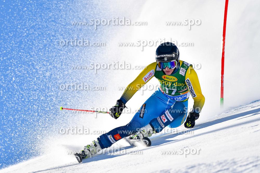 22.10.2016, Rettenbachferner, Soelden, AUT, FIS Weltcup Ski Alpin, Soelden, Riesenslalom, Damen, 1. Durchgang, im Bild Kajsa Kling (SWE) // Kajsa Kling of Sweden in action during 1st run of ladies Giant Slalom of the FIS Ski Alpine Worldcup opening at the Rettenbachferner in Soelden, Austria on 2016/10/22. EXPA Pictures &copy; 2016, PhotoCredit: EXPA/ Nisse Schmid<br /> <br /> *****ATTENTION - OUT of SWE*****