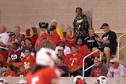 02 September 2017:   In the stands are Matt Adams and Jeff Collins during the Butler Bulldogs at  Illinois State Redbirds Football game at Hancock Stadium in Normal IL (Photo by Alan Look)
