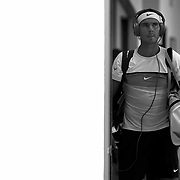 March 18, 2015, Indian Wells, California:<br /> Rafael Nadal walks toward stadium one before a match against Gilles Simon at the Indian Wells Tennis Garden in Indian Wells, California Wednesday, March 18, 2015.<br /> (Photo by Billie Weiss/BNP Paribas Open)