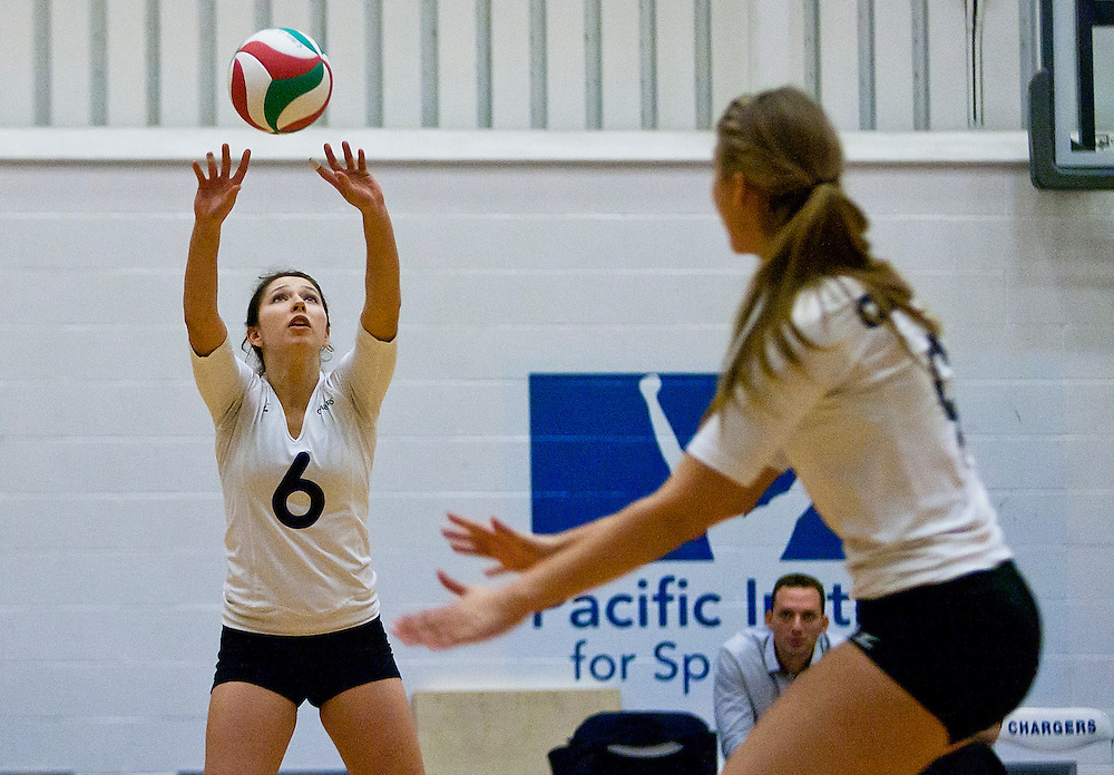 The Camosun College Chargers vs the Columbia Bible College Bearcats at the Pacific Institute for Sport Excellence in Victoria, British Columbia Canada.