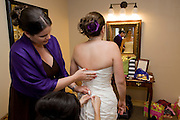 Bridal party gets ready at Tannenbaums.