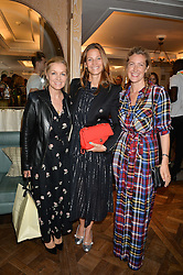 Left to right, AMANDA KIME, JULIA BAUMHOFF ZAOUK and GEORGINA COHEN at the 3rd annual Gynaecological Cancer Fund Ladies Lunch at Fortnum & Mason, 181 Piccadilly, London on 29th September 2016.