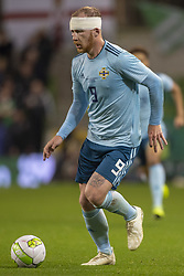 November 15, 2018 - Dublin, Ireland - Liam Boyce of N.Ireland controls the ball during the International Friendly match between Republic of Ireland and Northern Ireland at Aviva Stadium in Dublin, Ireland on November 15, 2018  (Credit Image: © Andrew Surma/NurPhoto via ZUMA Press)