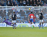 Wigan's Will Grigg skies a first half penalty - Dundee v Wigan Athletic - pre season friendly at Dens Park<br /> <br />  - &copy; David Young - www.davidyoungphoto.co.uk - email: davidyoungphoto@gmail.com