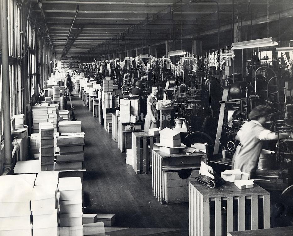 View of a 1940?Äôs factory hall