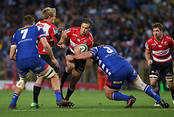 Andries Coetzee of the Emirates Lions during the first half of the Vodacom Super Rugby match between the DHL Stormers and the Emirates Lions at DHL Newlands in Cape Town, South Africa, Saturday May 26 2018. <br /> (Roger Sedres/ANA)