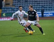 3rd February 2018, Dens Park, Dundee, Scotland; Scottish Premier League football, Dundee versus Ross County; Paul McGowan of Dundee and Alex Schalk of Ross County