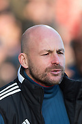 Brentford manager Lee Carsley during the Sky Bet Championship match between Brentford and Nottingham Forest at Griffin Park, London, England on 21 November 2015. Photo by David Charbit.