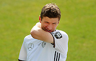 Thomas Mueller of Germany during training at Stadio Communale, Ascona<br /> Picture by EXPA Pictures/Focus Images Ltd 07814482222<br /> 31/05/2016<br /> ***UK &amp; IRELAND ONLY***<br /> EXPA-EIB-160531-0034.jpg