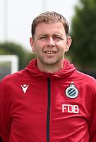 KNOKKE-HEIST, BELGIUM - JULY 10: Frederic De Boever, keeper trainer of Club Brugge, during the 2019 - 2020 season photo shoot of Club Brugge on July 10, 2019 in Knokke-Heist, Belgium. (Photo by Vincent Van Doornick/Isosport)