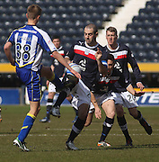 Gary Harkins  and Mark O'Hara  - Kilmarnock v Dundee - Clydesdale Bank Scottish Premier League at Rugby Park. - © David Young - www.davidyoungphoto.co.uk - email: davidyoungphoto@gmail.com