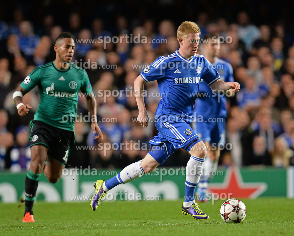 06.11.2013, Stamford Bridge, London, ENG, UEFA CL, FC Chelsea vs FC Schalke 04, Gruppe E, im Bild Chelsea's Kevin De Bruyne runs with the ball // Chelsea's Kevin De Bruyne runs with the ball during UEFA Champions League group E match between FC Chelsea and FC Schalke 04 at the Stamford Bridge in London, Great Britain on 2013/11/06. EXPA Pictures &copy; 2013, PhotoCredit: EXPA/ Mitchell Gunn<br /> <br /> *****ATTENTION - OUT of GBR*****