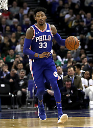 Philadelphia 76ers' Robert Covington during the NBA London Game 2018 at the O2 Arena, London. PRESS ASSOCIATION Photo. Picture date: Thursday January 11, 2018. See PA story BASKETBALL London. Photo credit should read: Simon Cooper/PA Wire. RESTRICTIONS: Editorial use only, No commercial use without prior permission