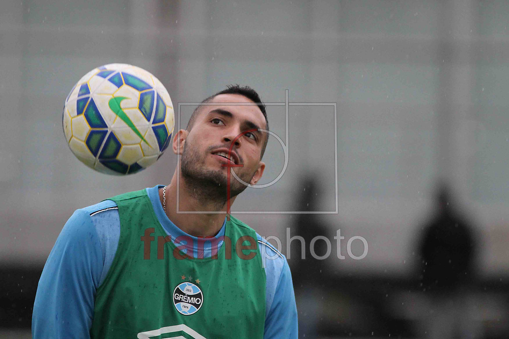 Futebol - Treino  - Braian Rodrigues , durante  o treino do Grêmio, no CT Luiz Carvalho. Foto: Luciano Leon/Raw Image/Frame
