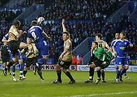 Photo: Steve Bond/Richard Lane Photography. Leicester City v Huddersfield Town. Coca Cola League One. 24/01/2009. Steve Howard header is nodded home by Jack Hobbs