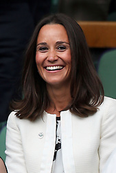 Image ©Licensed to i-Images Picture Agency. 26/06/2014. London, United Kingdom. Pippa Middleton in the Royal Box on day four of the Wimbledon Tennis Championships. Picture by Stephen Lock / i-Images
