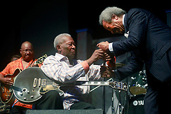 28 April 2013. New Orleans, Louisiana,  USA. .B.B. King, legendary musician plays the Blues Tent at the New Orleans Jazz and Heritage Festival. .Photo; Charlie Varley.