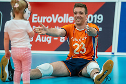 09-06-2019 NED: Golden League Netherlands - Spain, Koog aan de Zaan<br /> Fourth match poule B - The Dutch beat Spain again in five sets in the European Golden League / Sjoerd Hoogendoorn #23 of Netherlands