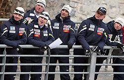 Matjaz Triplat, Ales Peljhan, Ari-Pekka Nikkola, Franci Petek, Gorazd Pogorelcnik at Slovenian National Championship in Ski Jumping on February 12, 2008 in Kranj, Slovenia . (Photo by Vid Ponikvar / Sportal Images).
