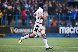 Fraser McKenzie of Edinburgh Rugby leaves the field after receiving a yellow card - Mandatory by-line: Ryan Hiscott/JMP - 05/10/2019 - RUGBY - Cardiff Arms Park - Cardiff, Wales - Cardiff Blues v Edinburgh Rugby - Guinness Pro 14