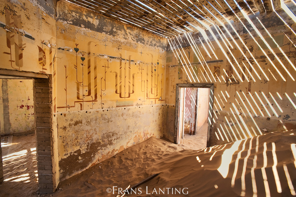 Ghost town building, Kolmanskop, Sperrgebiet National Park, Namibia