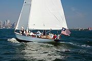 Salty, a NY 32 Class, racing in the Liberty Race during New York Classic Week