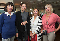 23/08/2015 REPRO FREE Maria Arnold, Sarah Arnold from Ballinasloe,  Renee Lynch Rathgar and Mary  at Connemara Golf Club in Ballyconneely Co Galway  where Ryan Tubridy received honorary Life Membership from the Club .<br /> Photo:Andrew Downes, xposure.