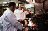 Padres first baseman Adrian Gonzalez (right) and pitcher Heath Bell try their hands as gourmet chefs for the Adrian and Betsy Gonzalez Foundation Celebrity  Dinner at Acqua Al 2 in downtown San Diego, Aug. 27, 2008.