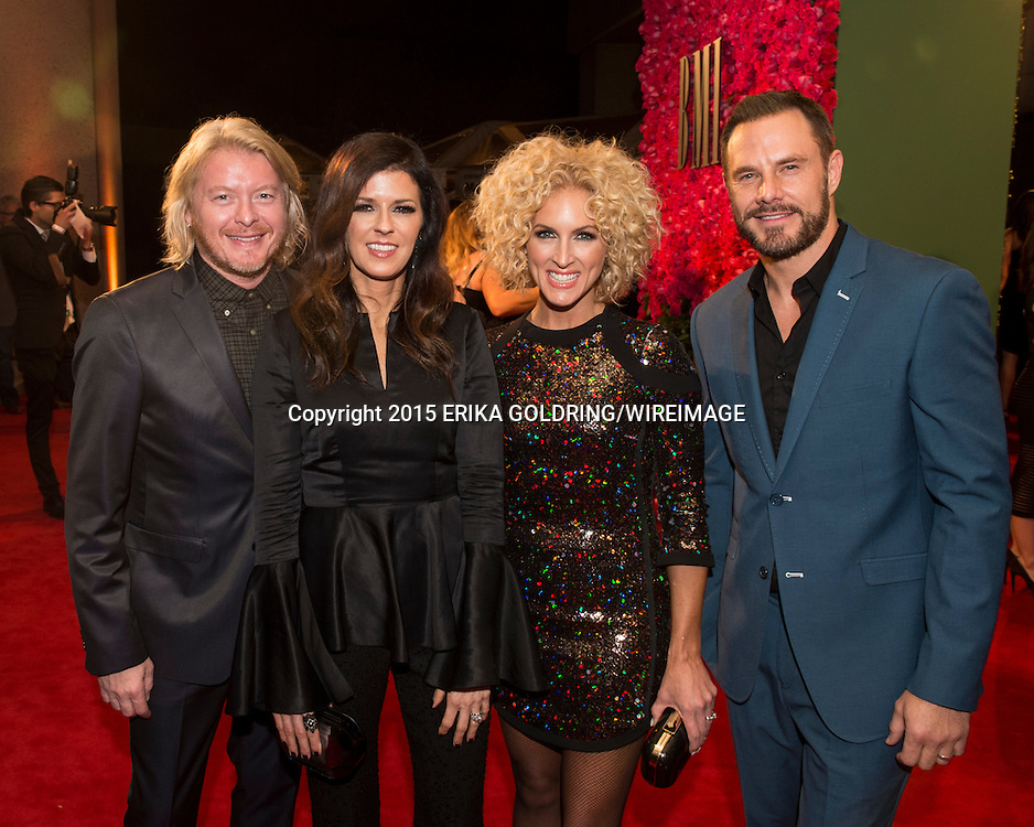 NASHVILLE, TN - NOVEMBER 03:  (L-R) Phillip Sweet, Karen Fairchild, Kimberly Schlapman and Jimi Westbrook of Little Big Town attend the 63rd Annual BMI Country awards on November 3, 2015 in Nashville, Tennessee.  (Photo by Erika Goldring/WireImage) *** Local Caption *** Phillip Sweet;Karen Fairchild;Kimberly Schlapman;Jimi Westbrook