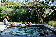 VENICE, CA- August 16, 2016:  Nico shows off his swimming and diving skills in the backyard on Tuesday August 16, 2016.  (Mariah Tauger /  For the Times)