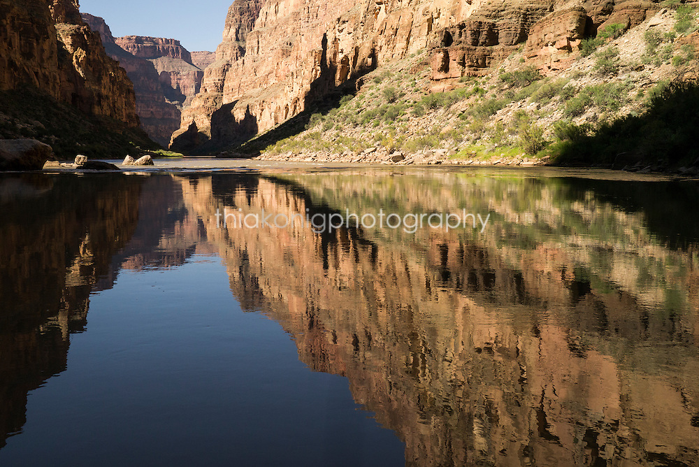 Reflections of Grand Canyon on Colorado River, AZ