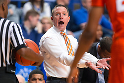 Florida head coach Mike White directs his players in the first half.<br /> <br /> The University of Kentucky hosted the University of Florida, Saturday, Feb. 06, 2016 at Rupp Arena in Lexington .