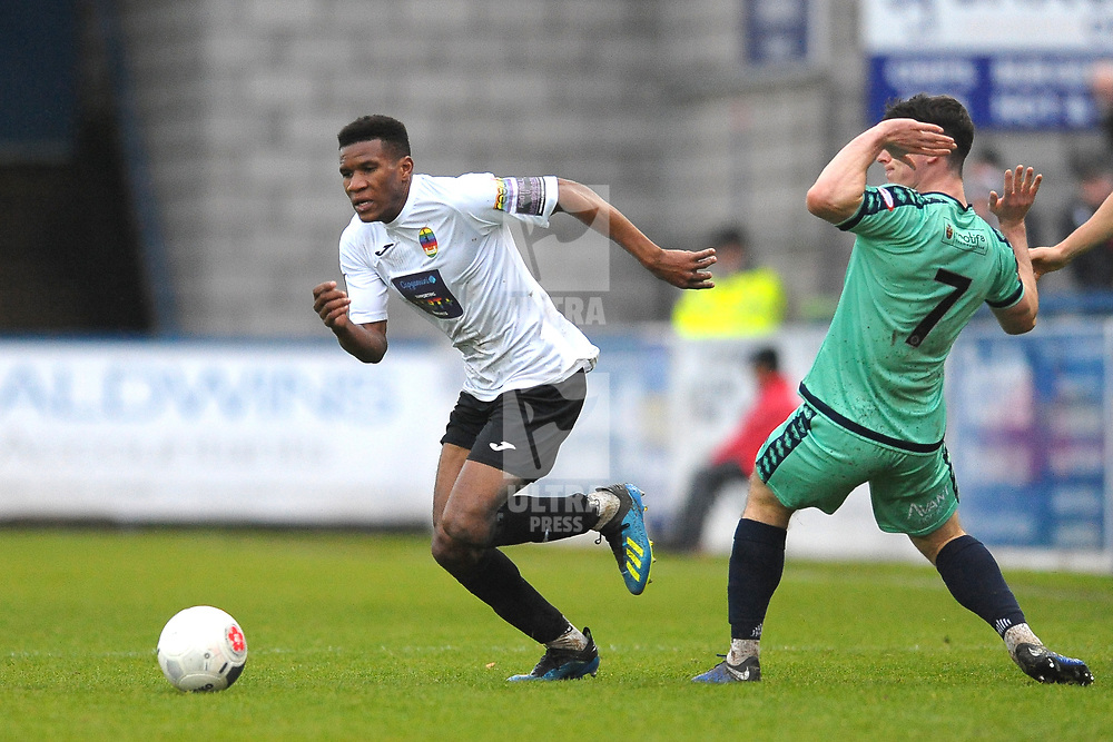 TELFORD COPYRIGHT MIKE SHERIDAN Riccardo Calder of Telford during the Vanarama National League Conference North fixture between AFC Telford United and Spennymoor Town on Saturday, November 16, 2019.<br /> <br /> Picture credit: Mike Sheridan/Ultrapress<br /> <br /> MS201920-030