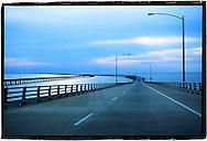 Une autoroute sur un pont sur la cote est  des USA. A highway on a bridge on the East Coast of the USA (PHOTO-GENIC.CH/ OLIVIER MAIRE)