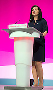 © Licensed to London News Pictures. 23/09/2014. Manchester, UK. Caroline Flint. Labour Party Conference 2014 at the Manchester Convention Centre today 23 September 2014. Photo credit : Stephen Simpson/LNP