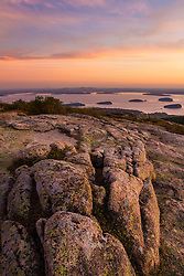 Dawn on Cadillac Mountain in Maine's Acadia National Park.