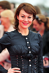 © Licensed to London News Pictures. 31/03/2012. Watford, England. Helen McCrory attends The Warner Bros. Studio Tour London - The Making of Harry Potter ** GRAND OPENING at Leavesden Studios near Watford Hertfordshire  Photo credit : ALAN ROXBOROUGH/LNP